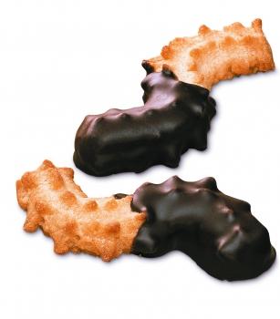 Butter-Spritzgebäck mit Zartbitterschokolade
